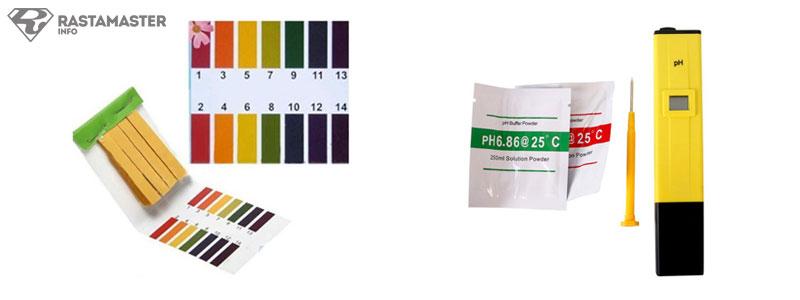 средства измерения pH - тестовые полоски и прибор