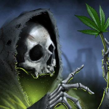 Смерть и каннабис картинка